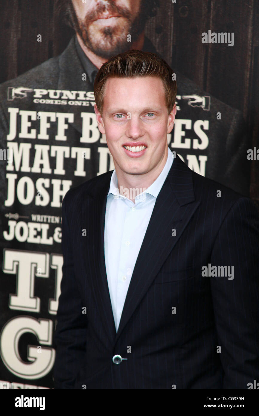 David Ellison, Executive Producer,  New York Premiere of 'True Grit' at the Clearview Cinemas Ziegfeld Theater. Stock Photo