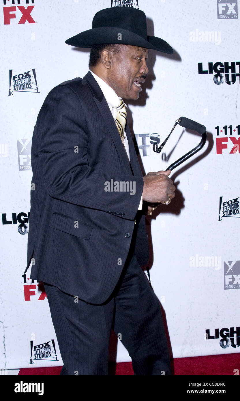 Joe Frazier Premiere screening of FX's 'Lights Out' at Hudson Theatre - Arrivals New York City, USA - Stock Image