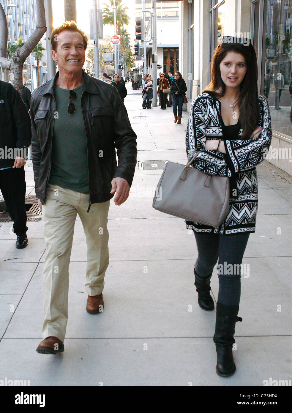 Arnold Schwarzenegger And His Daughter Katherine