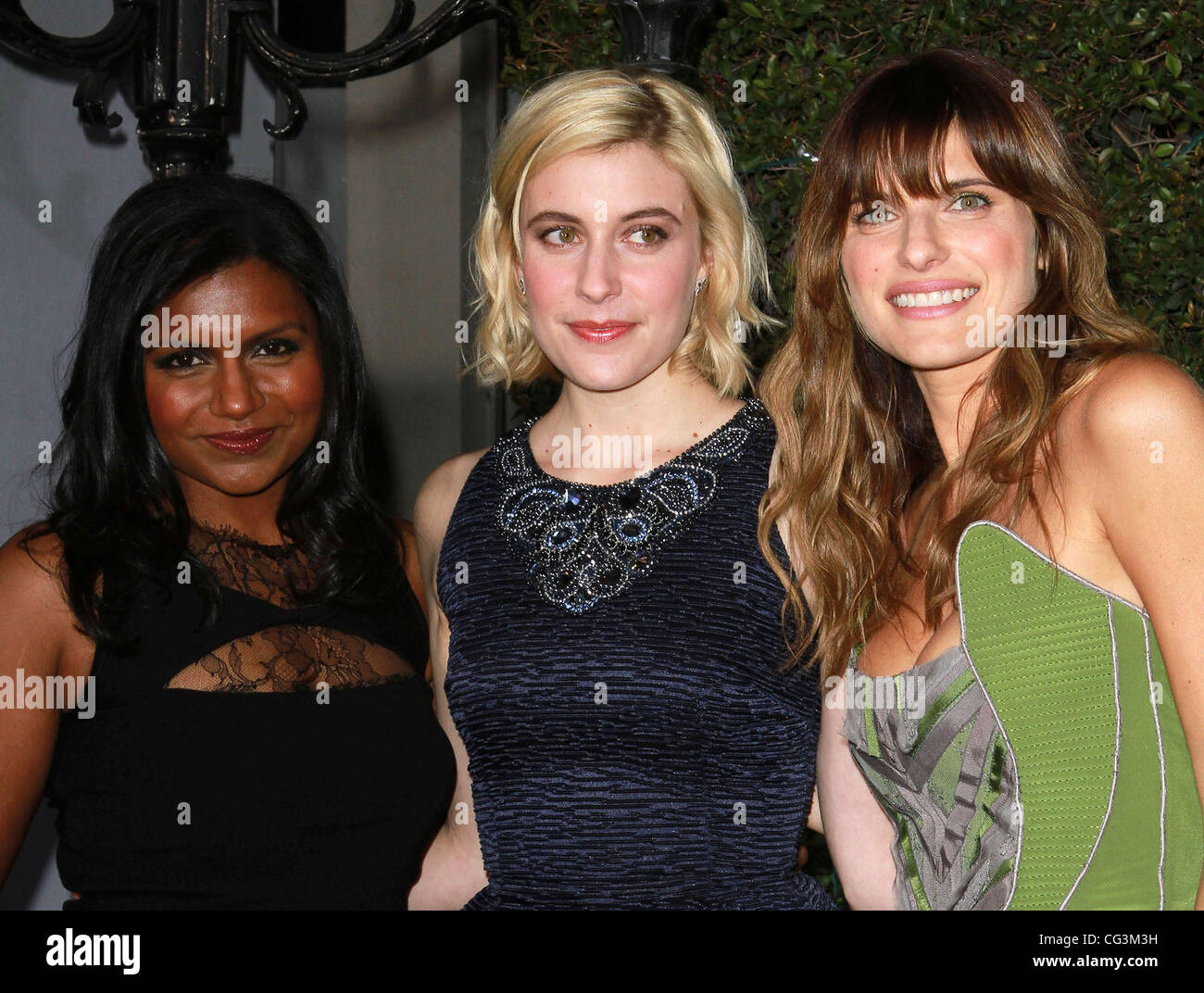 Mindy Kaling Greta Gerwig And Lake Bell Los Angeles Premiere Of No Stock Photo Alamy