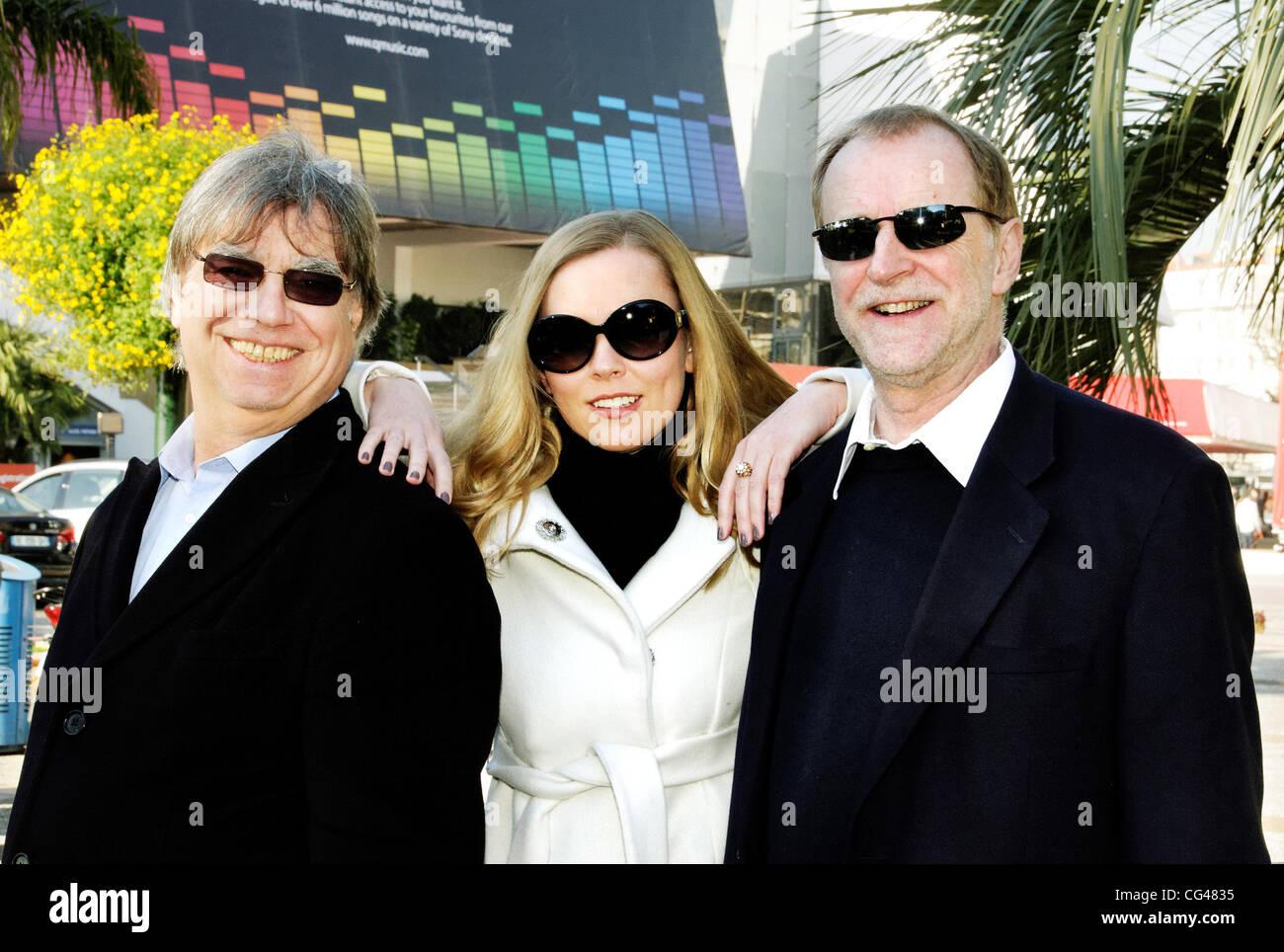 Graham Preskett, artist Marina Laslo and Producer Robin Millar promote Marina Laslo's new album 'Night & Day' at MIDEM - photocall Cannes, France - 25.01.11 Stock Photo