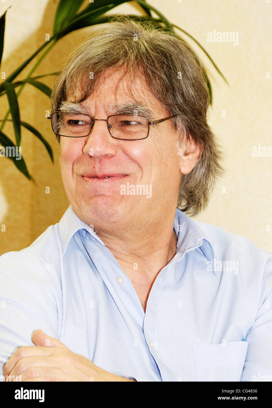 Keyboard player and writer Graham Preskett at Marina Laslo's 'Night & Day' album launch held at Hotel Majestic - press conference Cannes, France - 25.01.11 Stock Photo