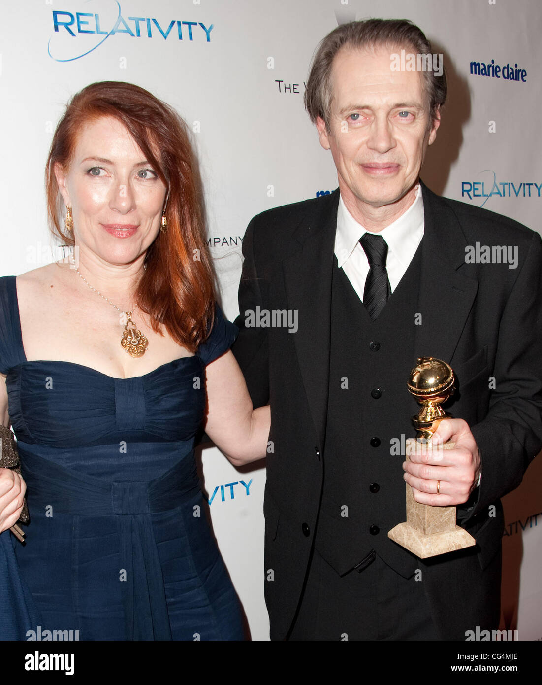 steve buscemi and jo andres weinstein company 39 s golden globe awards stock photo 44359238 alamy. Black Bedroom Furniture Sets. Home Design Ideas