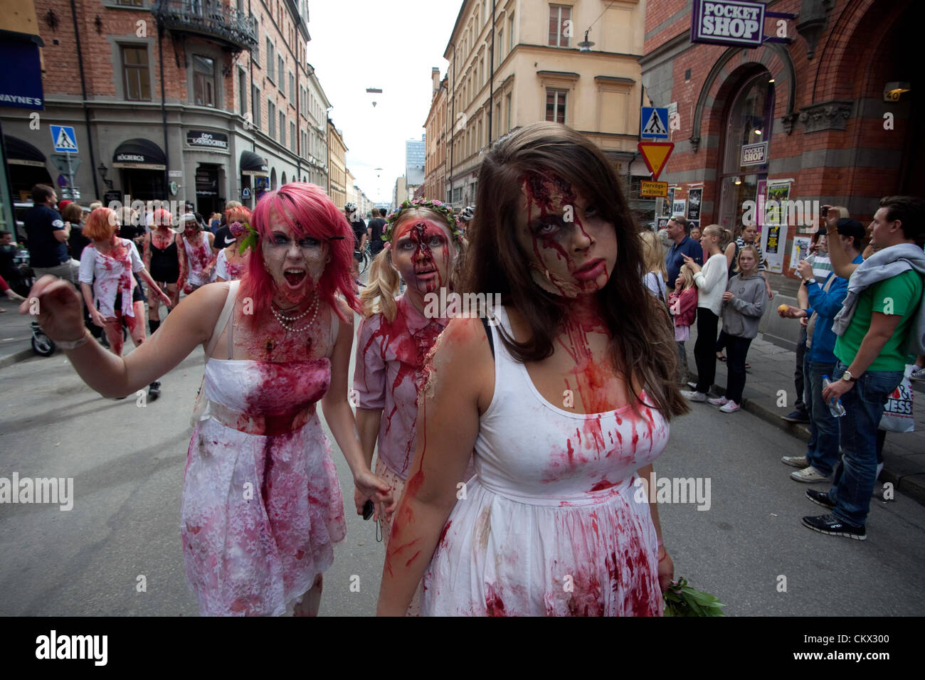 Zombies at Stockholm Zombie Walk 2012 - Stock Image