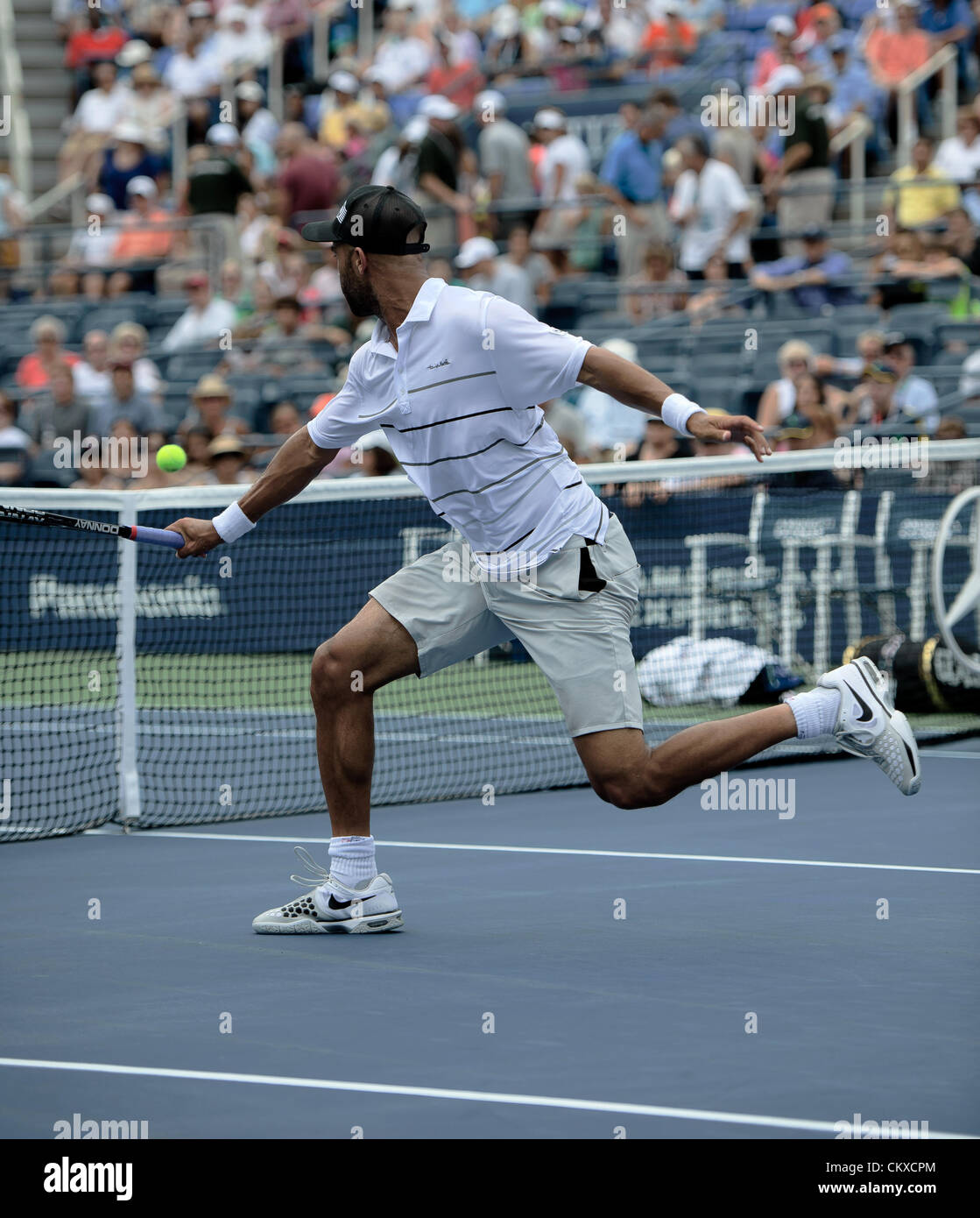 27th Aug 2012. 27.08.2012. New York, USA. James Blake from The United States (USA) in action against Slovakia's - Stock Image