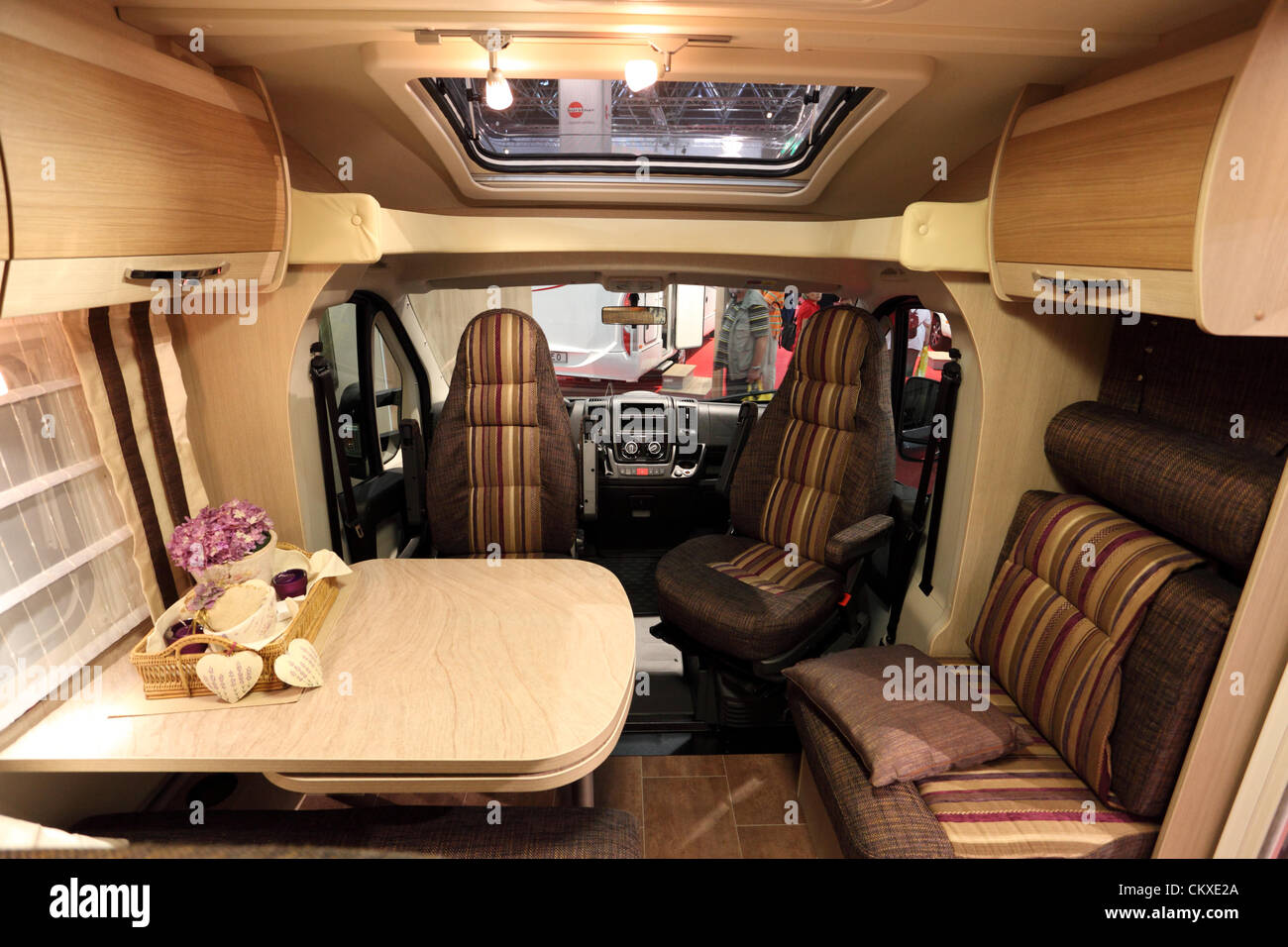 August 27 2012 In Dusseldorf Germany Interior Of A Modern Camper Van At