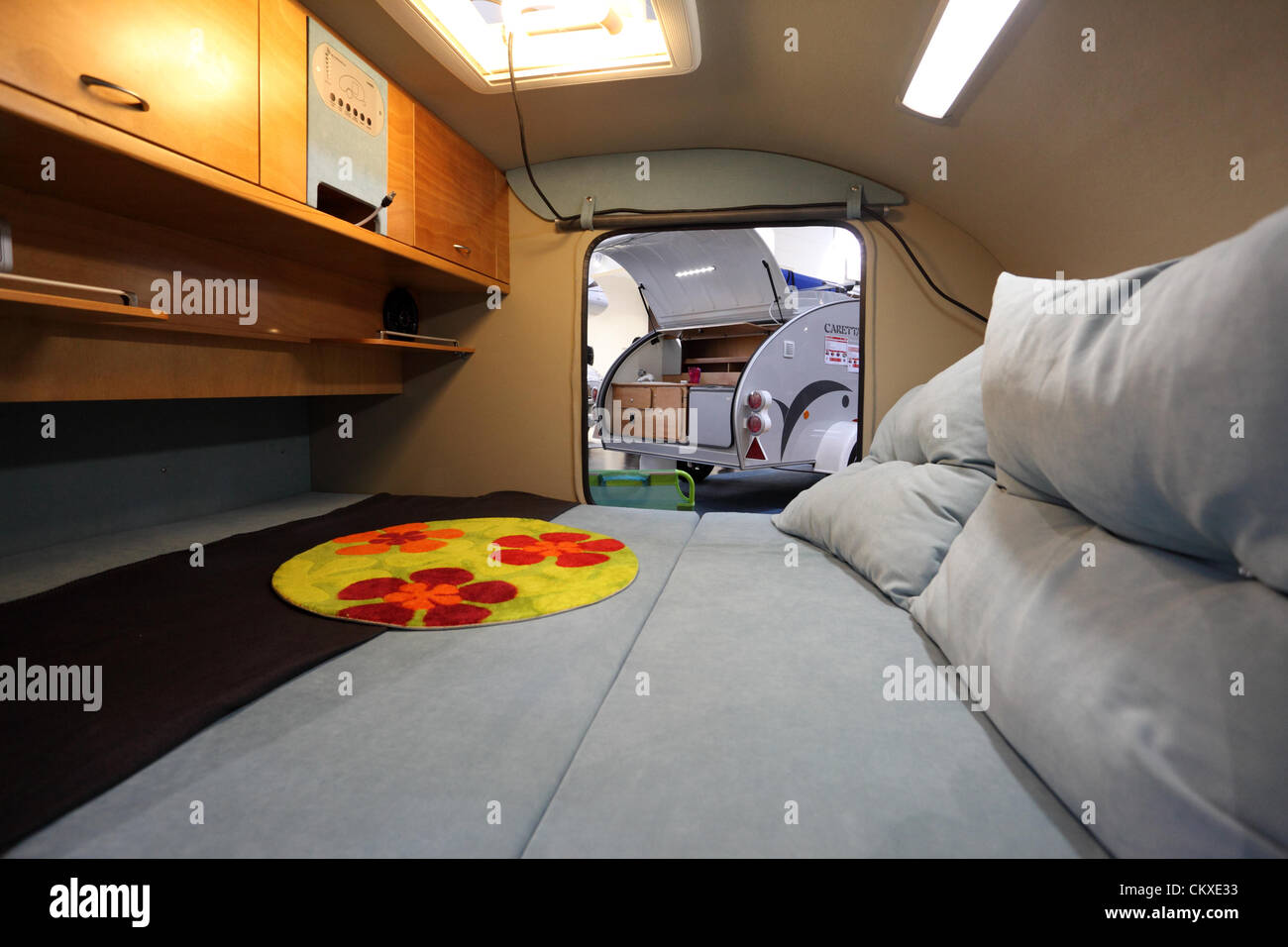August 27 2012 In Dusseldorf Germany Interior Of A Small Camper Van At