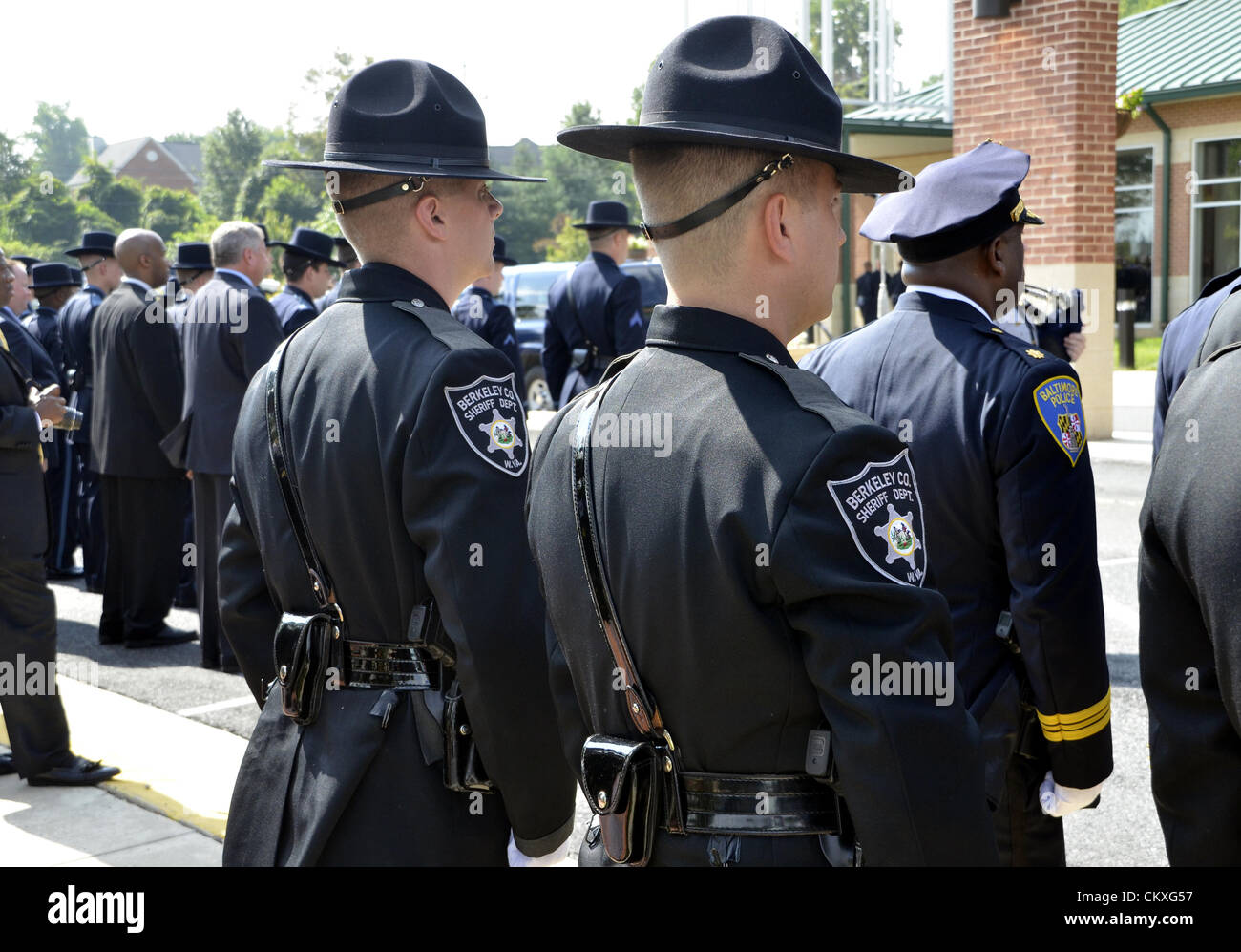 Mitchellville, Maryland, USA. August 28th 2012. Funeral for fallen Prince George's County police officer Adrian - Stock Image