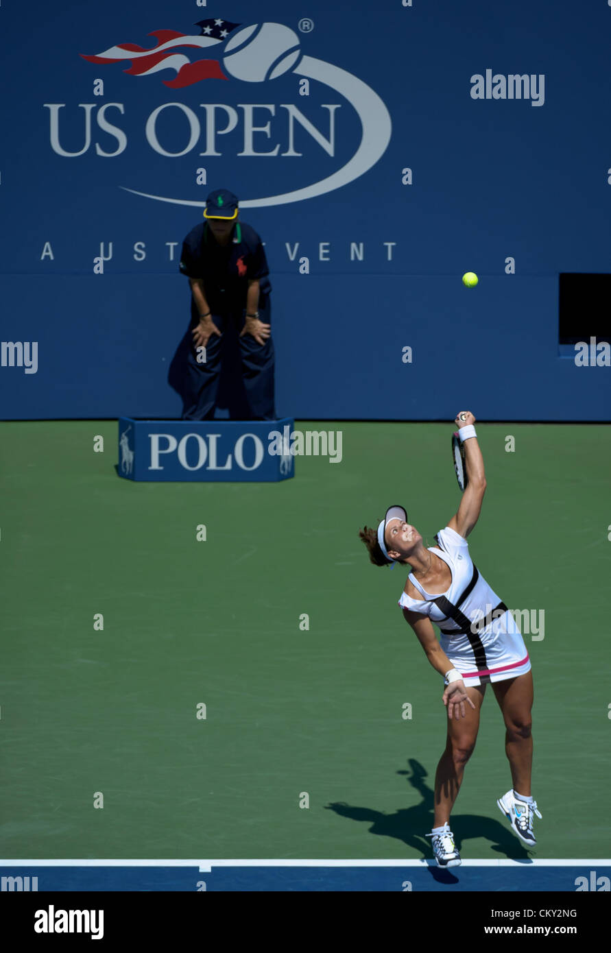 21.08.2012. Flushing Meadows, NY, USA.  Varvara Lepchenko from the United States (USA) was defeated by Australian - Stock Image