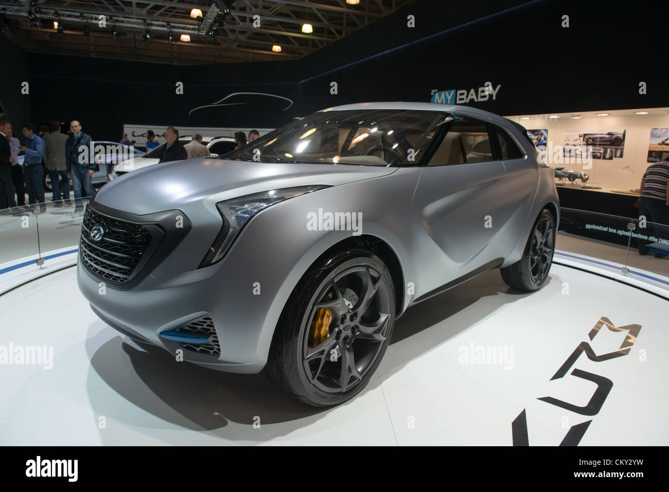MOSCOW, RUSSIA - August 31: Moscow International Automobile Salon 2012. Hyundai Curb Concept Small Crossover - Stock Image