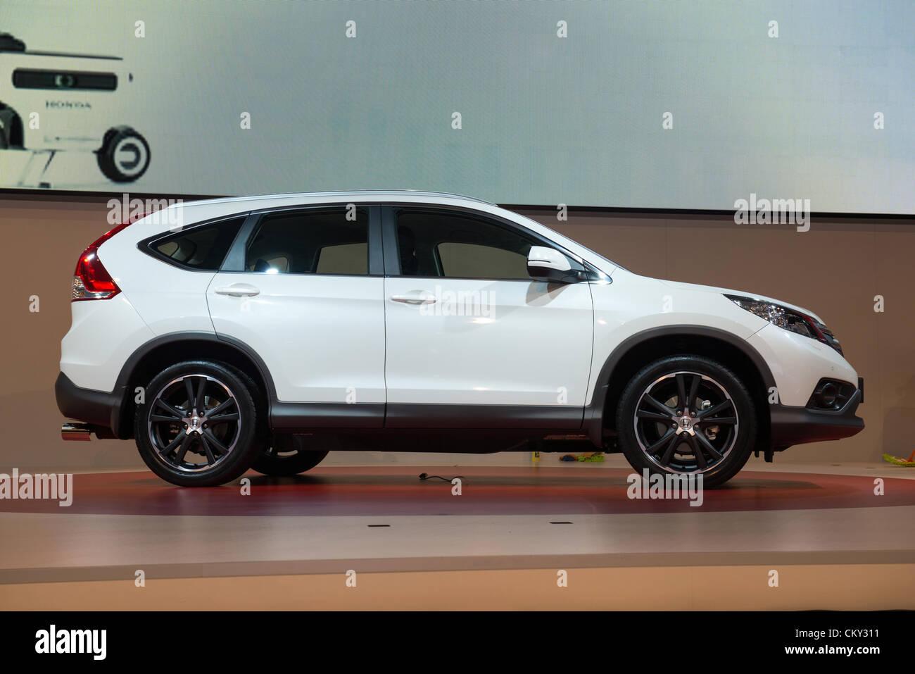 MOSCOW, RUSSIA - August 31: Moscow International Automobile Salon 2012. Honda CRV - Stock Image