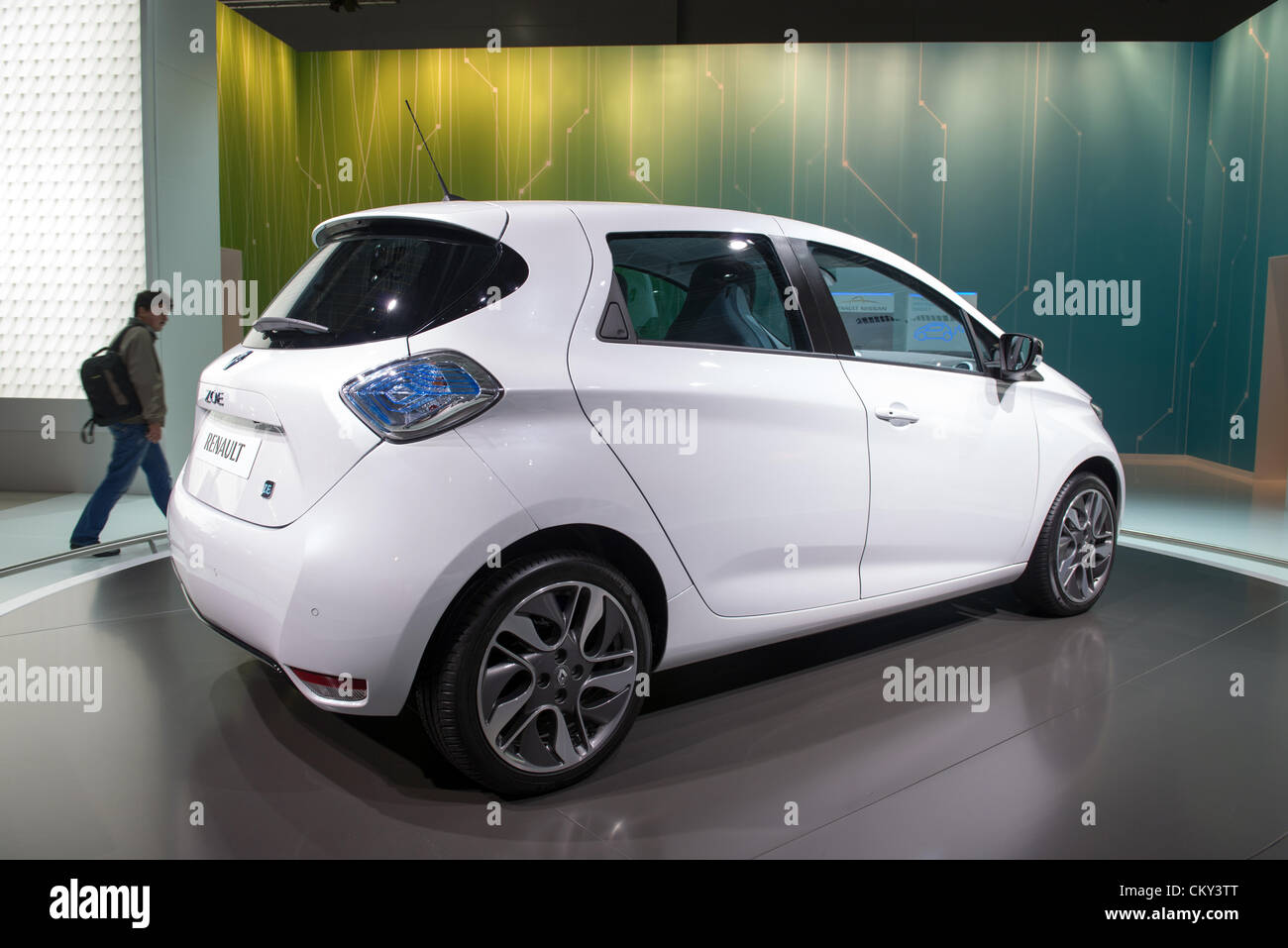 MOSCOW, RUSSIA - August 31: Moscow International Automobile Salon 2012. Renault Twizy concept Stock Photo