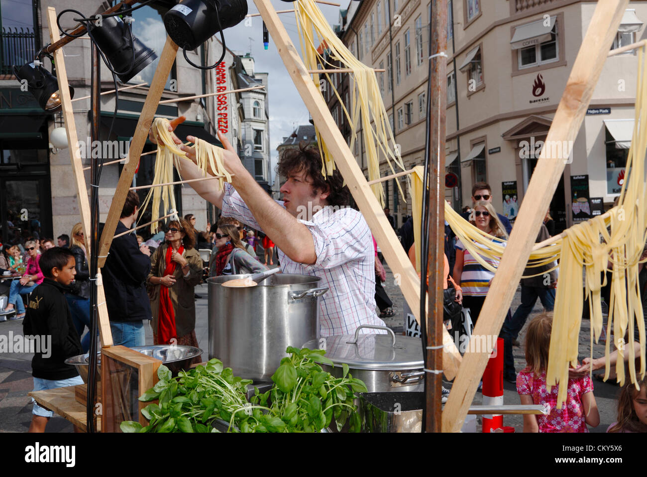 Saturday September 1st 2012. Austrian artist and food performer Max Frey at the 50th anniversary of the oldest and - Stock Image