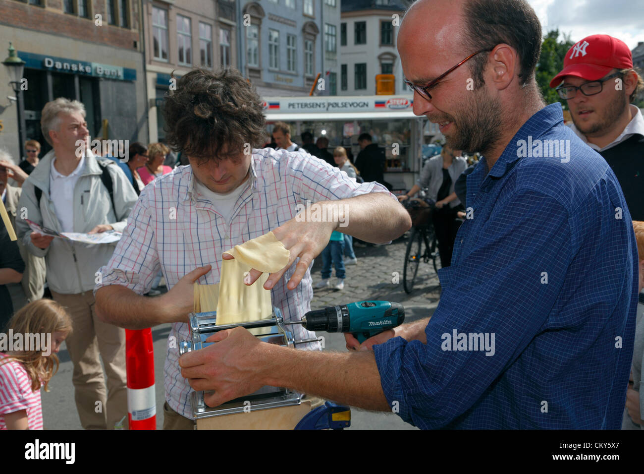 September, Saturday 1, 2012 – Austrian artist and food performer Max Frey (left) at the 50th anniversary of the - Stock Image
