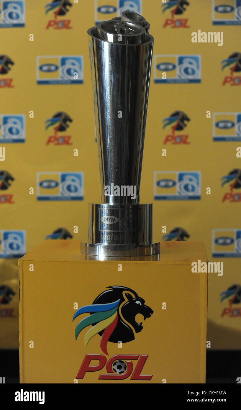 JOHANNESBURG, SOUTH AFRICA - SEPTEMBER 03, The Trophy during the MTN 8 final venue announcement media briefing from - Stock Image