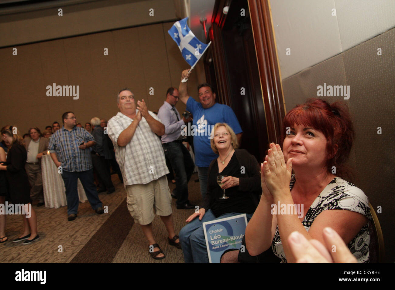 September. 04, 2012 - Laval, Quebec, Canada.  On septembre 4th 2012, Quebecers elected a minority governement led - Stock Image