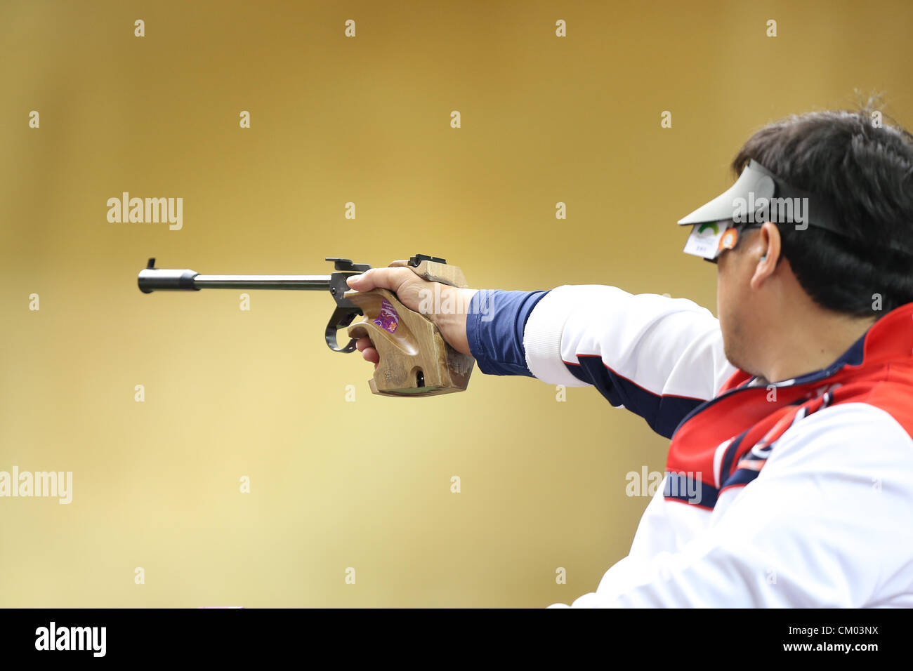 06.09.2012 London, England. Mixed P4-50m Pistol-SH1 Final. S PARK (KOR) in action during Day 7 of the London 2012 - Stock Image
