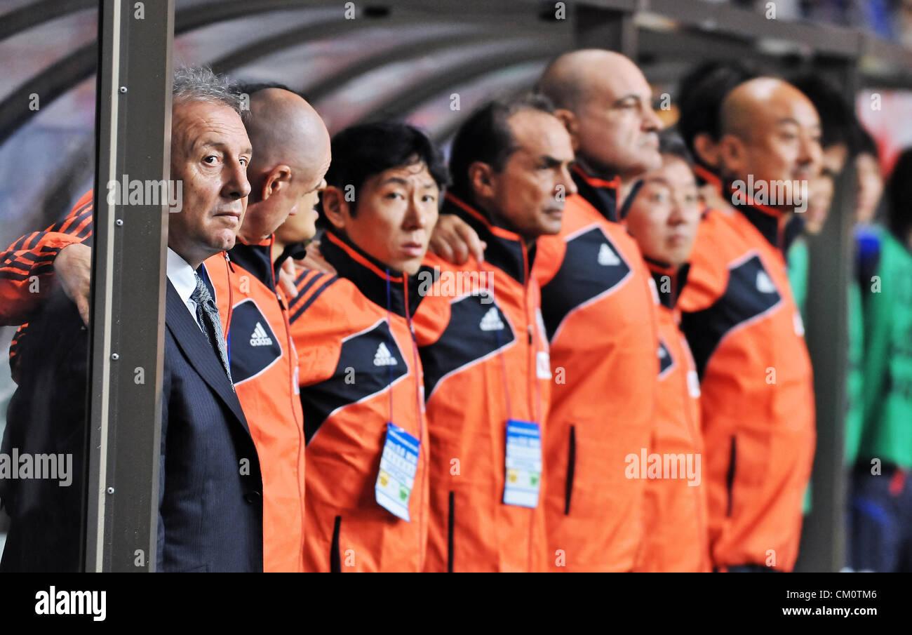 Alberto Zaccheroni (JPN), SEPTEMBER 6, 2012 : Alberto Zaccheroni, Niigata, Japan, Football / Soccer : Japan's - Stock Image