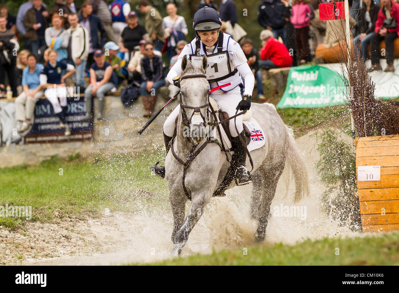 08.09.2012, Strzegon Poland  FEI EUROPEAN EVENTING CHAMPIONSHIPS FOR JUNIORS 2012 CROSS COUNTRY, SOPHIE HOW GBR - Stock Image