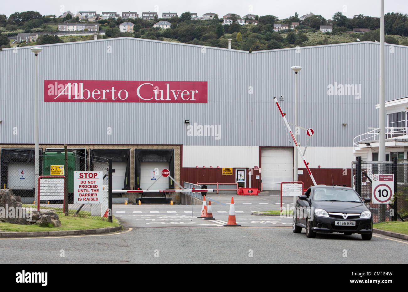Swansea, UK. 13th September 2012. 13.09.12 The Unilever owned Alberto Culver Factory in Swansea, which is set to - Stock Image
