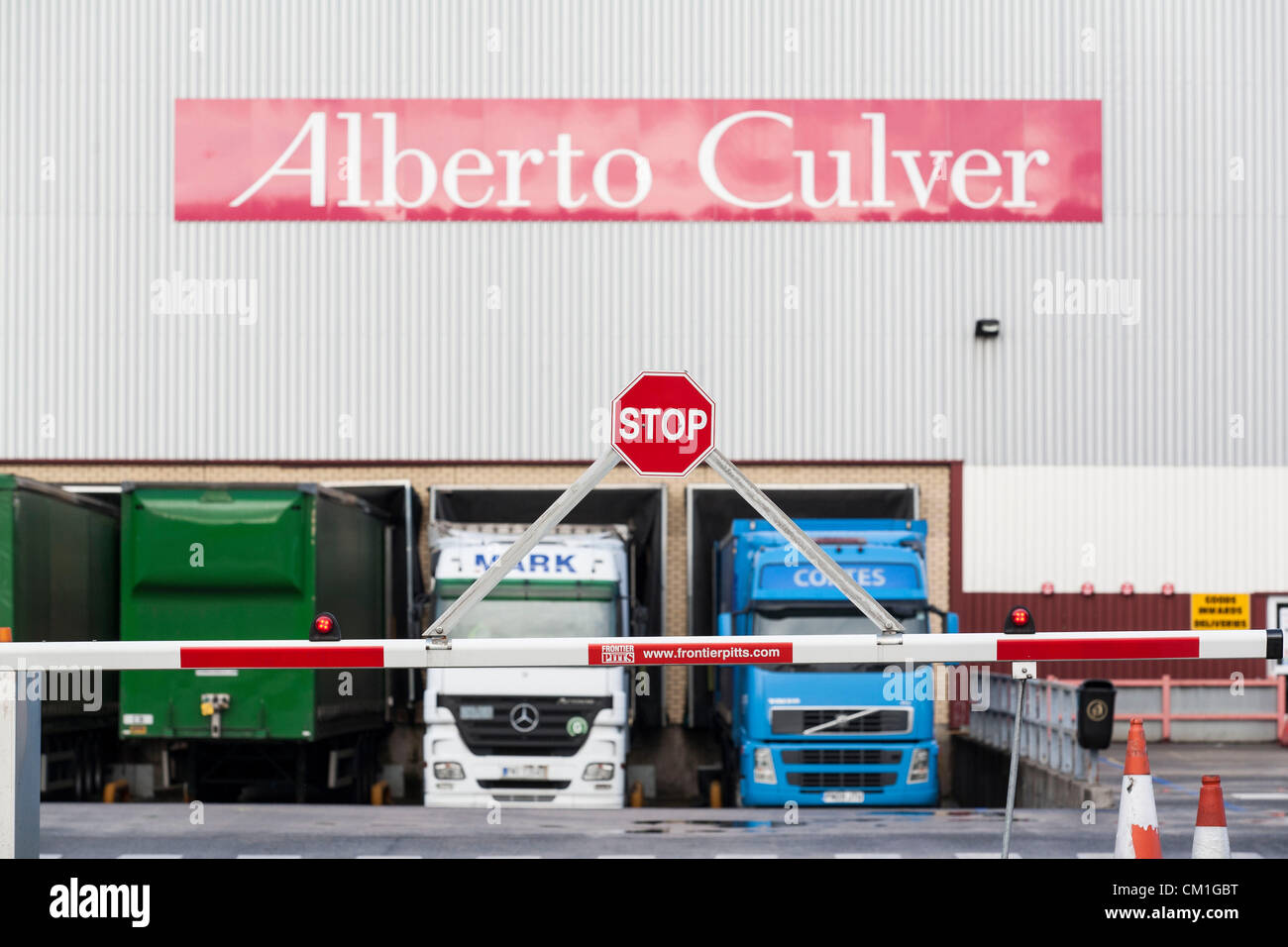 General view of the Alberto Culver factory in Swansea Enterprise park in Wales, UK on Friday 14th September, 2012. Stock Photo
