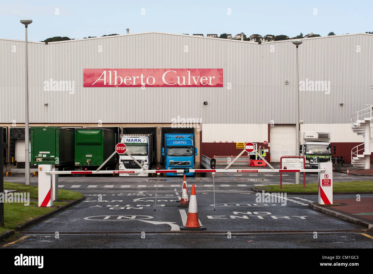 General view of the Alberto Culver factory in Swansea Enterprise park in Wales, UK on Friday 14th September, 2012. - Stock Image