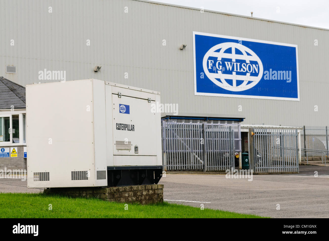 Northern Ireland, Belfast 14/09/2012 - FG Wilson, Northern Ireland's fourth biggest employer and manufacturer of Stock Photo