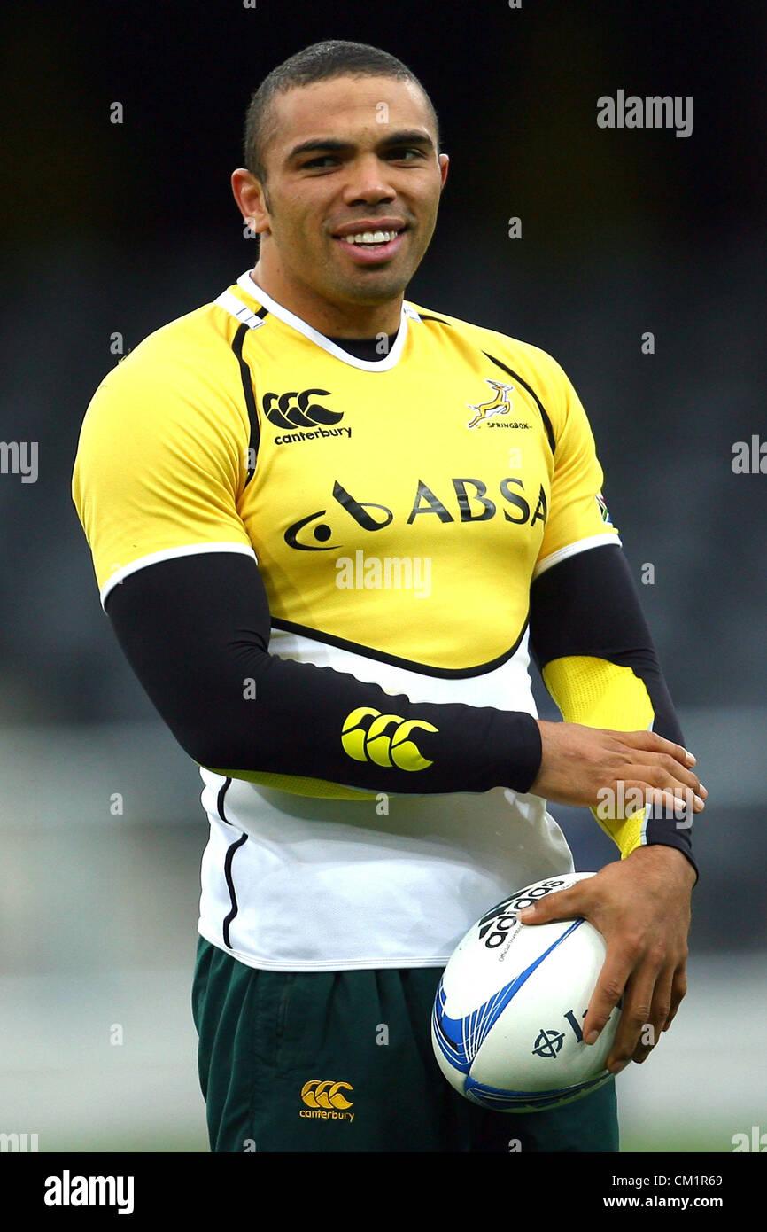 DUNEDIN, NEW ZEALAND - SEPTEMBER 14: Bryan Habana looks on during the South African Springboks captain's run - Stock Image
