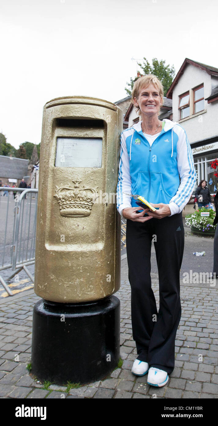 Dunblane, Scotland, UK, Sunday 16th September 2012. Judy Murray, the mother of the new US Open Tennis Champion Andy - Stock Image