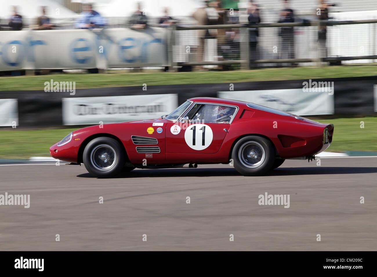 Goodwood Estate, Chichester, UK. 15th September 2012. Red Ferrari 250 Drogo driven during the RAC TT Celebration. - Stock Image