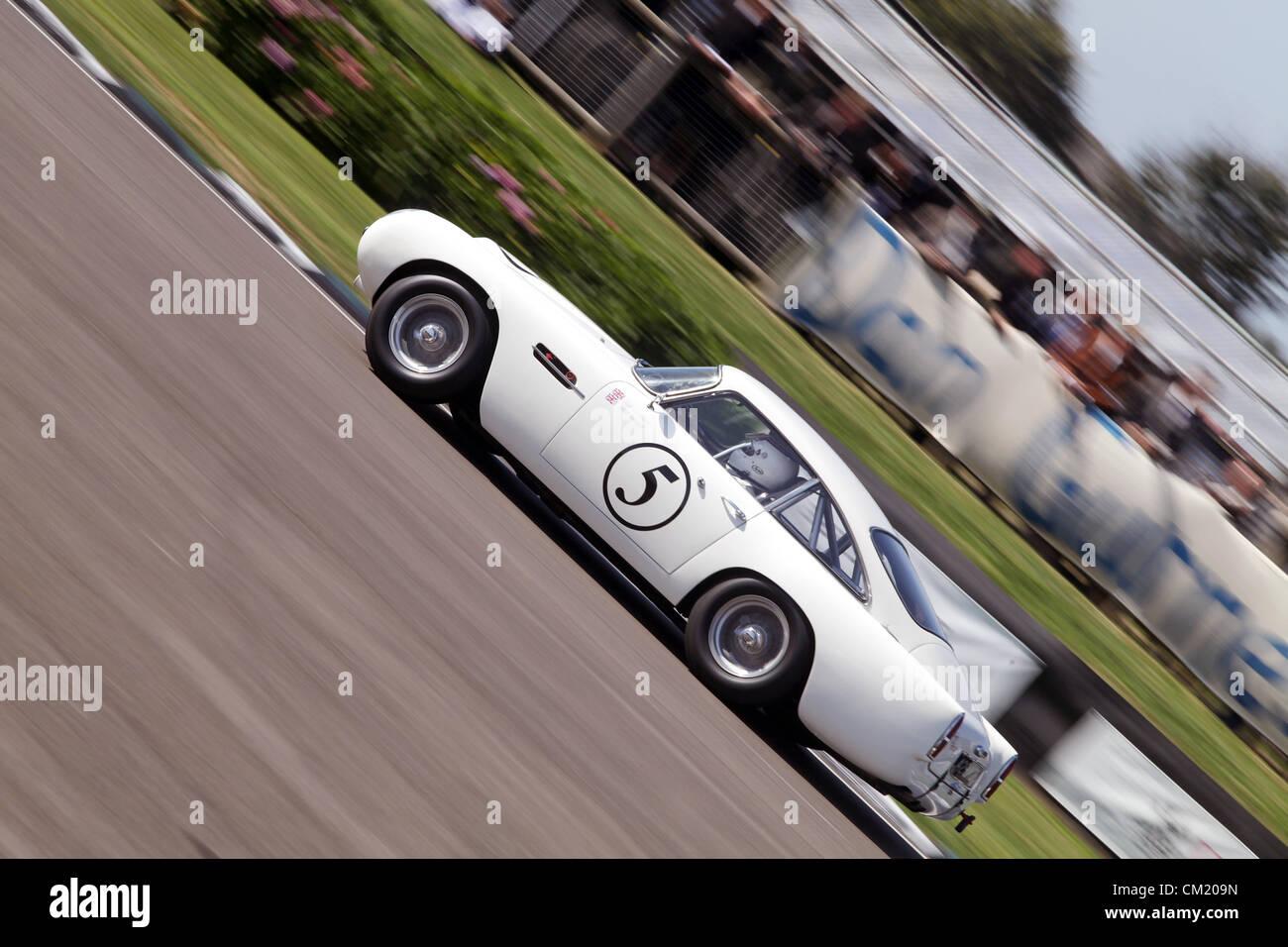 Goodwood Estate, Chichester, UK. 15th September 2012. Aston Martin DB4GT during the RAC TT Celebration. The revival - Stock Image