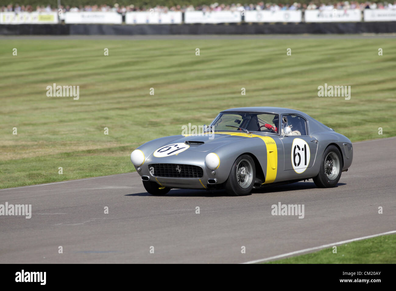 Goodwood Estate, Chichester, UK. 15th September 2012. Anthony Reid driving a Ferrari GT SWB/C during the RAC TT - Stock Image