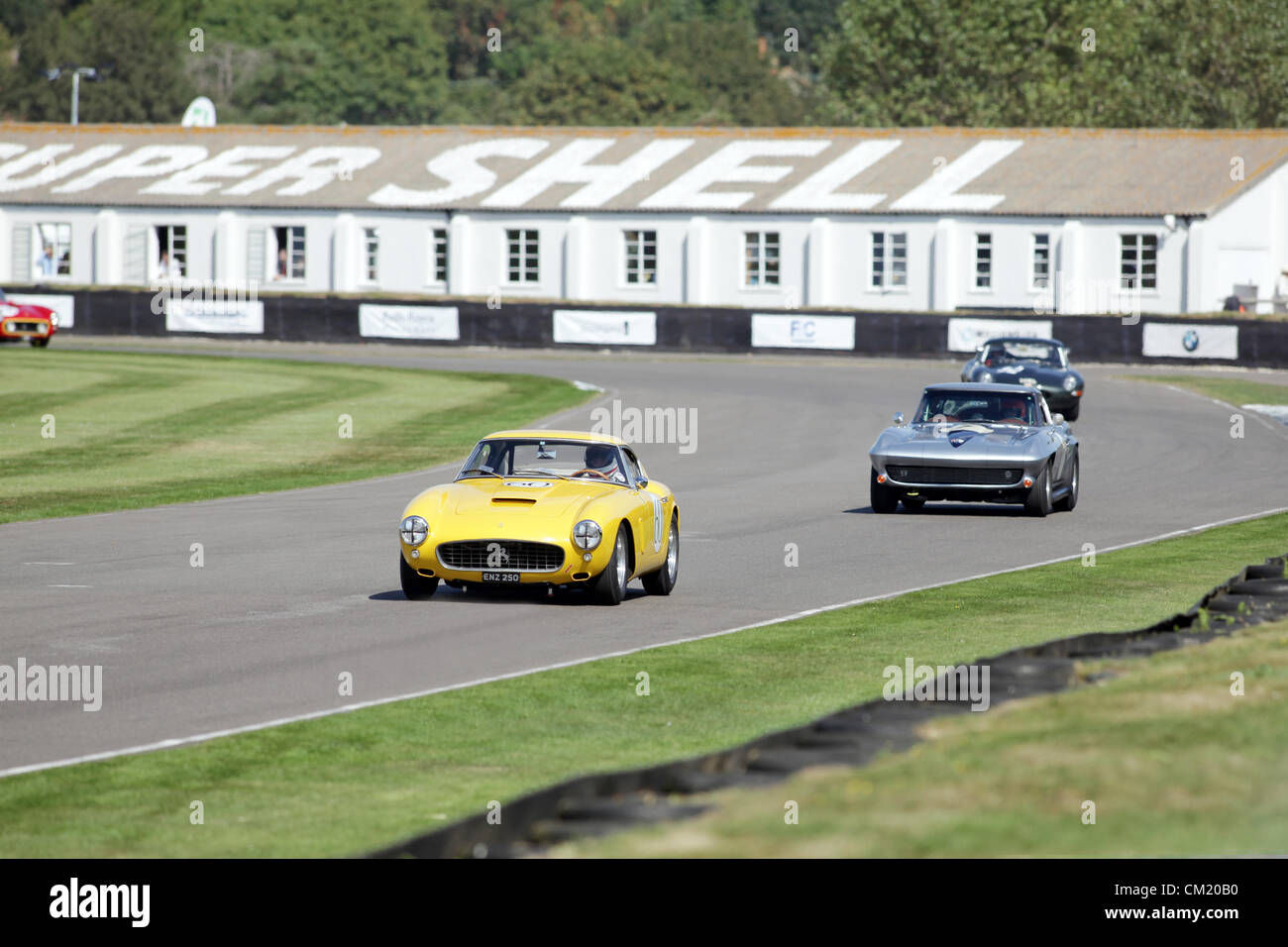 Goodwood Estate, Chichester, UK. 15th September 2012. Christian Horner (Red Bull F1 Team Principle) driving a 1960 - Stock Image