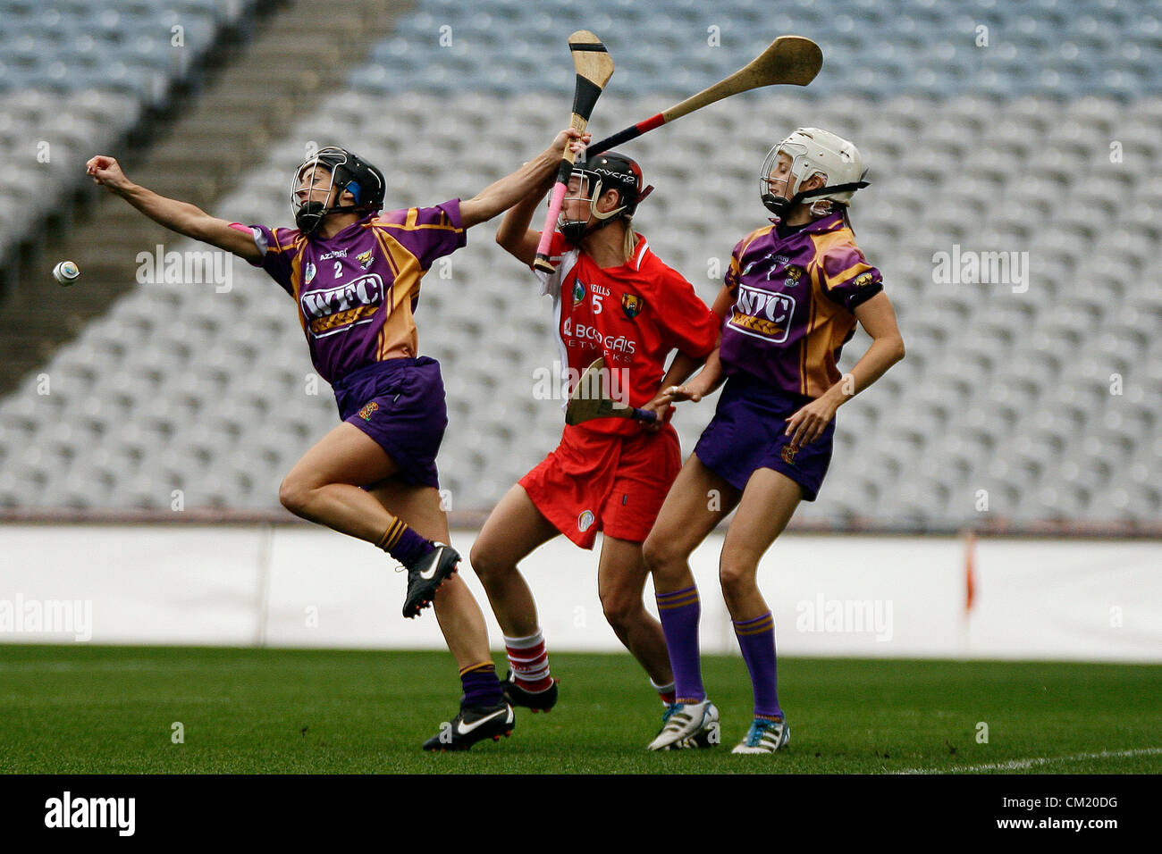 REPRO FREE - 16 September 2012 - Croke Park,  DUBLIN- Ireland - Claire O'Connor of Wexford with Eimear O'Sullivan - Stock Image