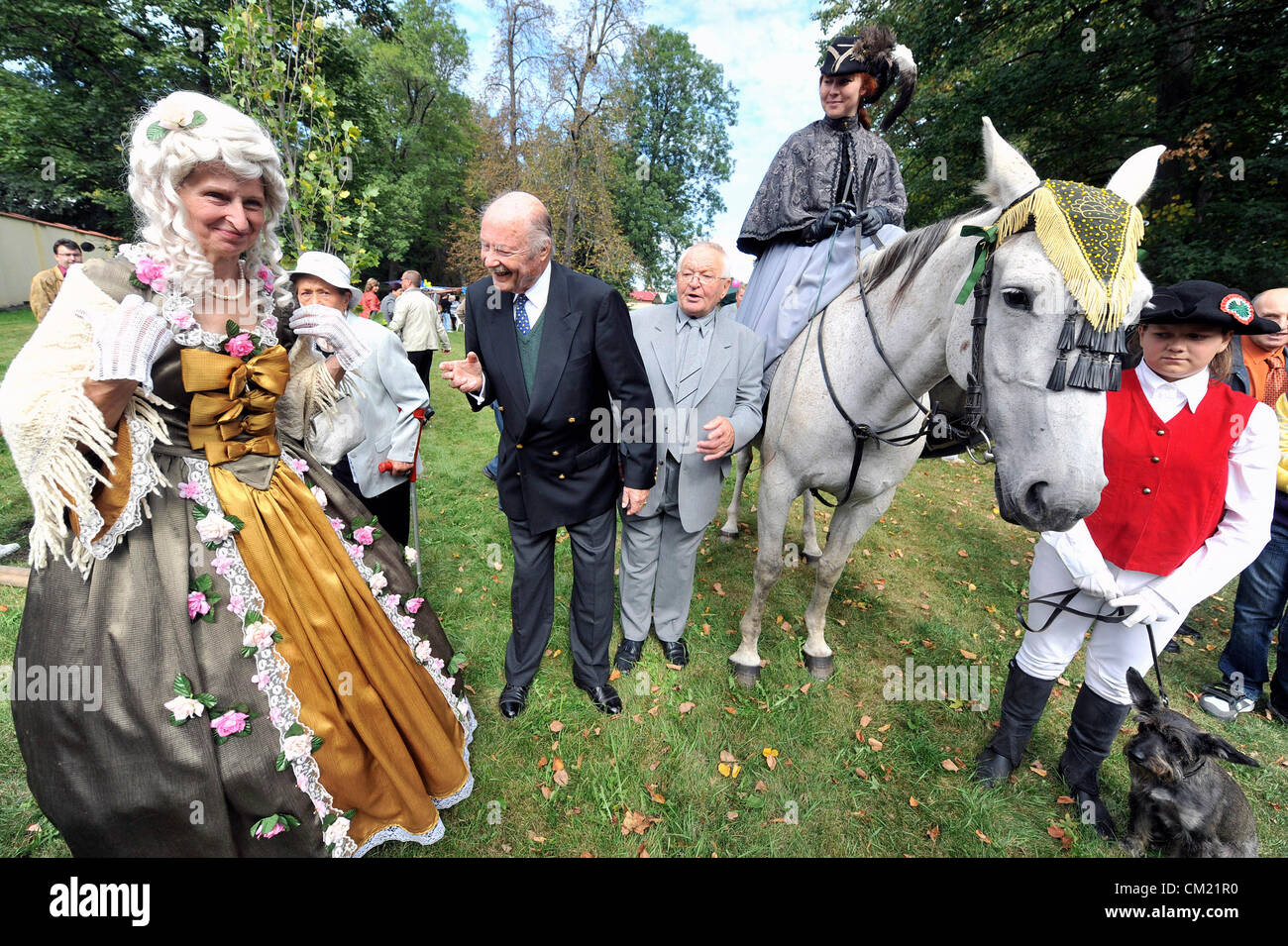 Pilgrimage and mass was held during the celebrations of the 250th anniversary of the birth of countess Mary Walburga - Stock Image