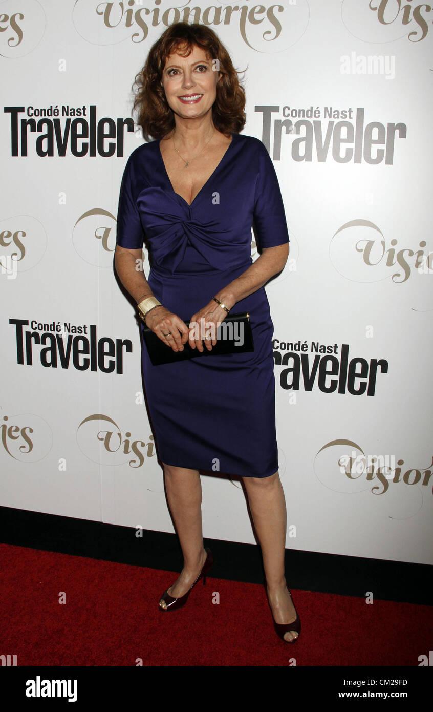 Sept. 18, 2012 - New York, New York, U.S. - Susan Sarandon arrives for the Conde Nast Traveler celebrates the 2012 - Stock Image