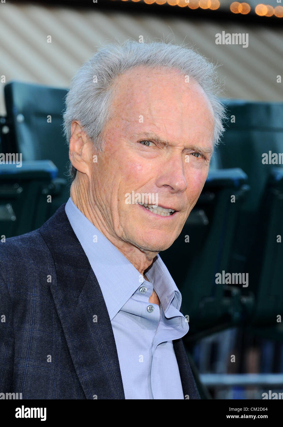 Clint Eastwood at the 'Trouble with the Curve' film premiere in Los Angeles, CA Sept 19th 2012 photo by - Stock Image