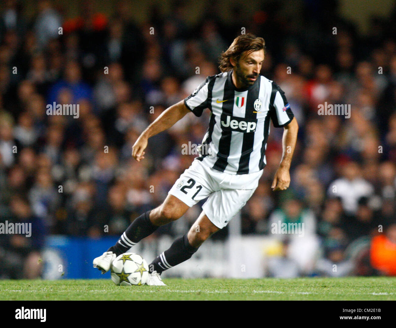 19 09 12 London England Andrea Pirlo Of Juventus F C During The Stock Photo Alamy