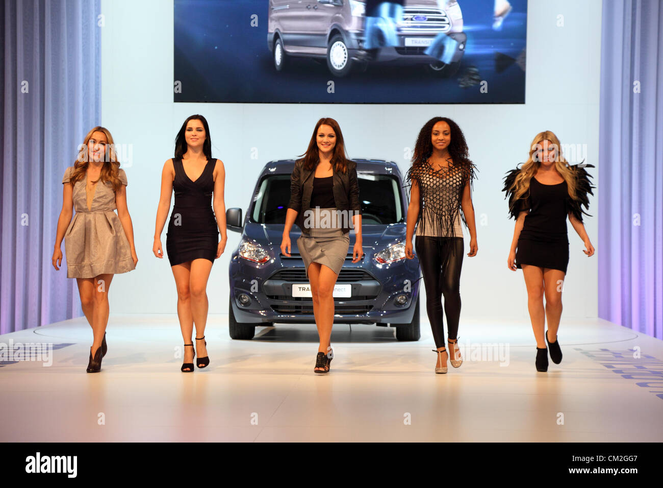 New Ford Transit Van presentation with a fashion show at the International Motor Show for Commercial Vehicles - Stock Image