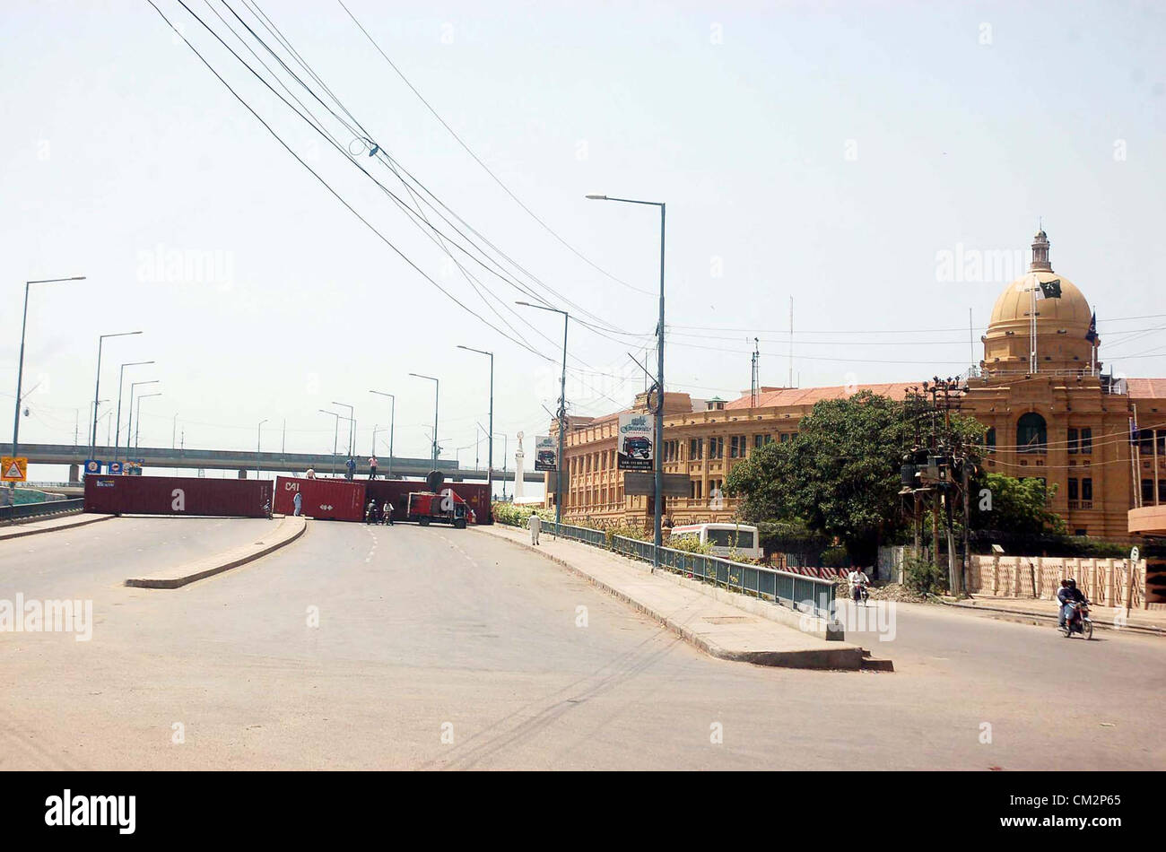 View of Netty Jetty Bridge that was closed with the help of