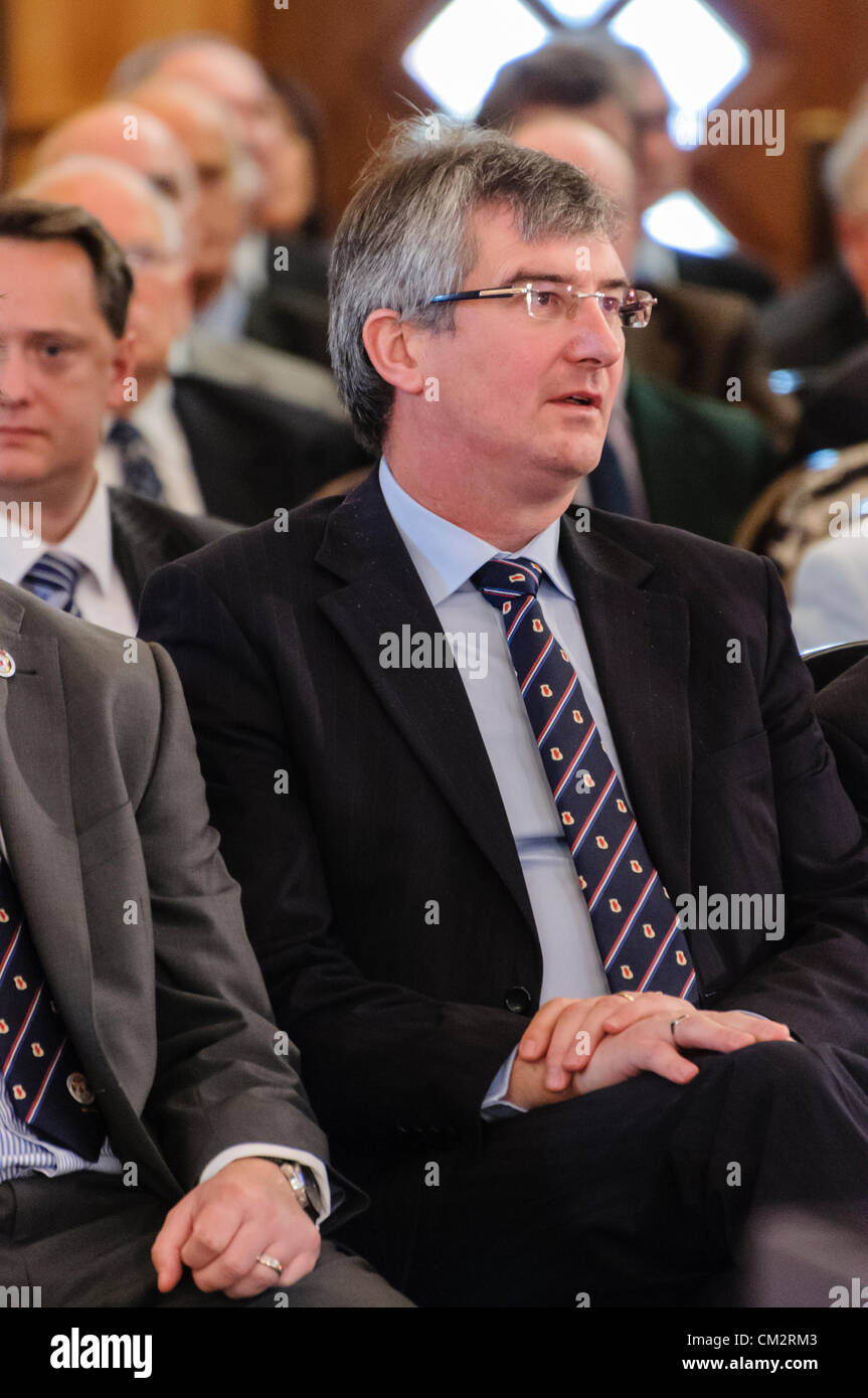 Belfast, 22/09/2012 - Tom Elliott, former party leader, at the Ulster Unionist Party (UUP) Conference, 2012 - Stock Image