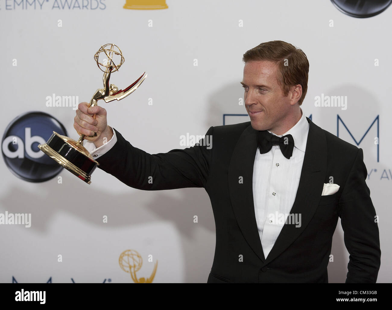 Sept. 23, 2012 - Los Angeles, California, USA - Actor Damian Lewis, winner Outstanding Lead Actor in a Drama Series - Stock Image