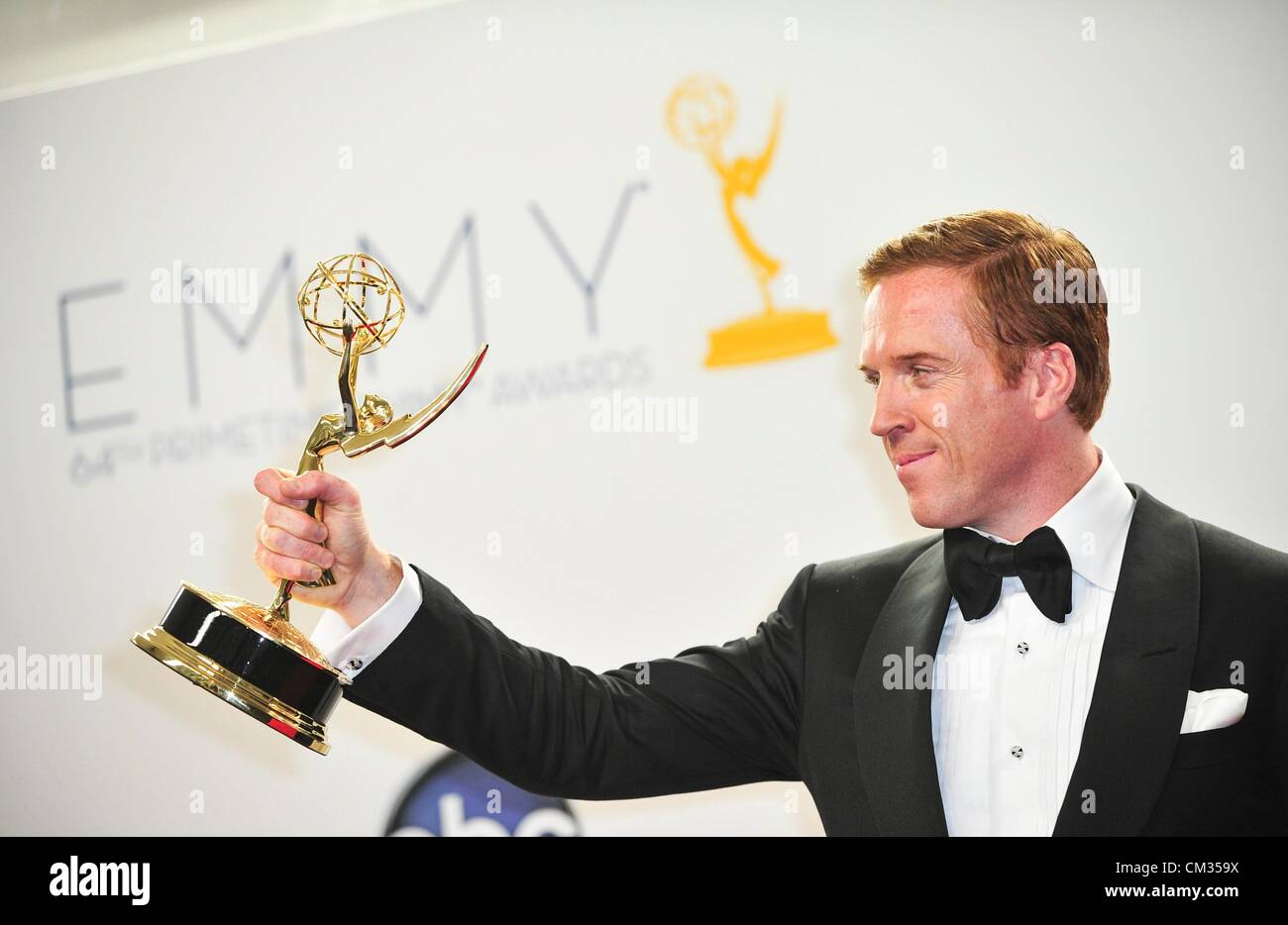 Damian Lewis inpress room64th Primetime Emmy Awards - PRESS ROOM Nokia Theatre L.A LIVE Los Angeles CA September - Stock Image