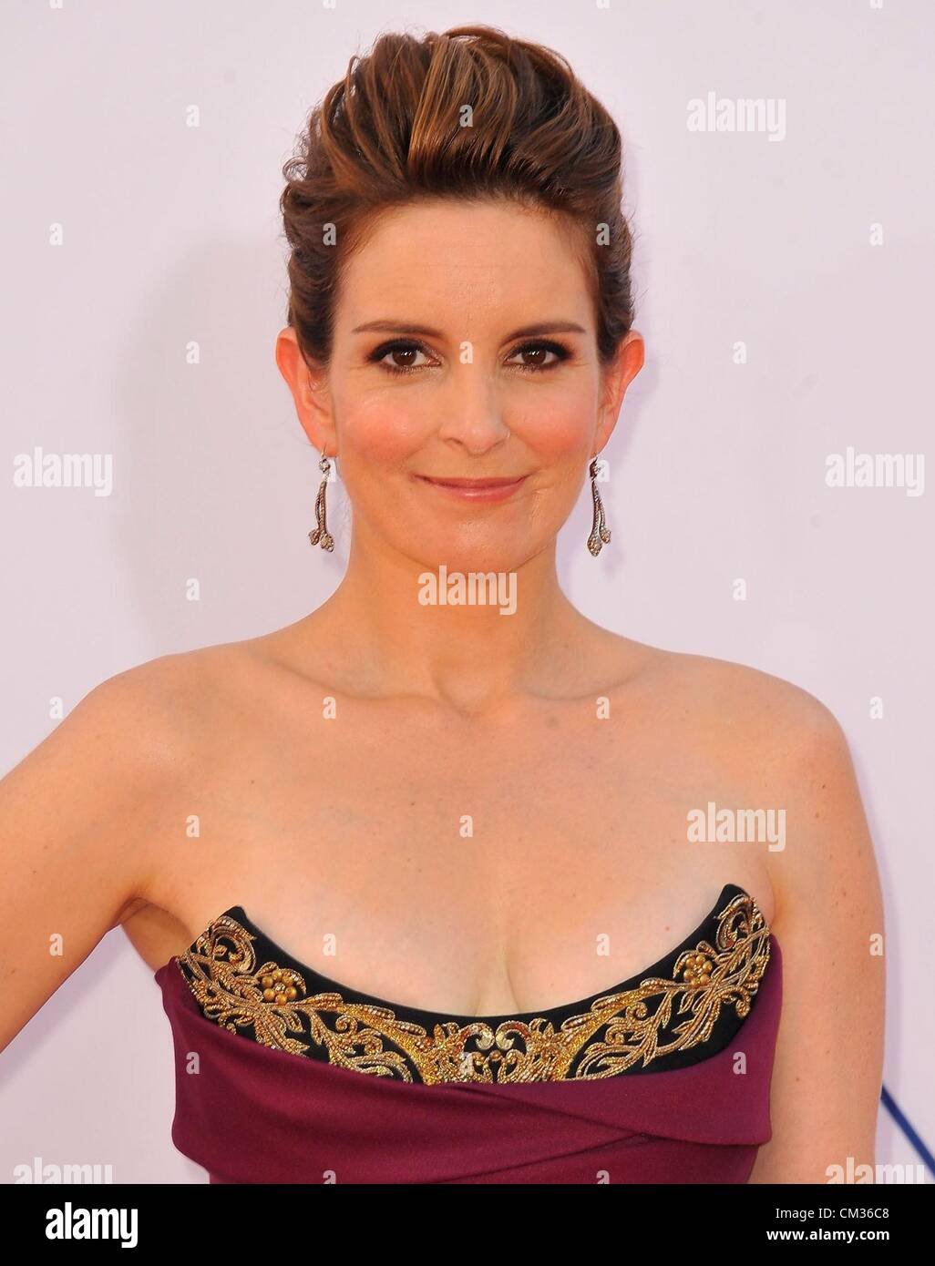 Tina Fey arrivals64th Primetime Emmy Awards - ARRIVALS Nokia Theatre L.A LIVE Los Angeles CA September 23 2012 Photo - Stock Image