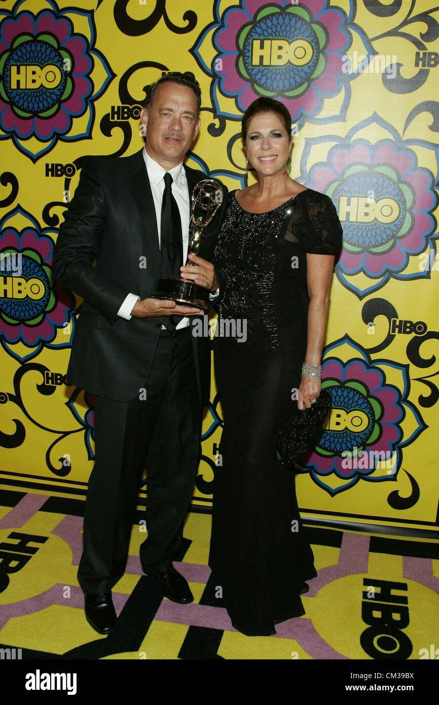 Tom Hanks Rita Wilson arrivals HBO Emmy Awards After PartyPlaza atPacific Design Center Los Angeles CA September - Stock Image