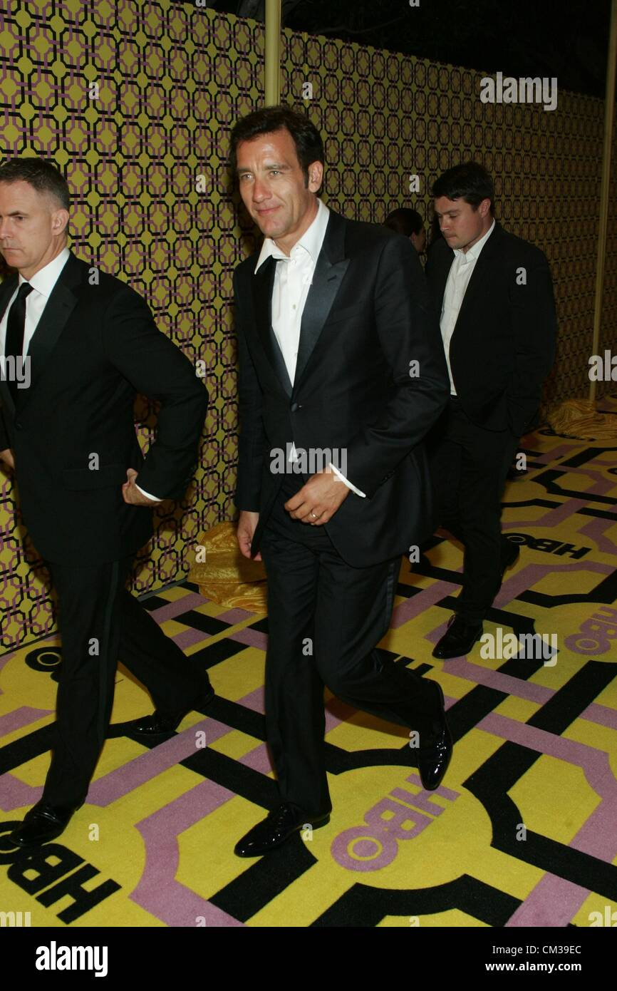 Clive Owen arrivals HBO Emmy Awards After PartyPlaza atPacific Design Center Los Angeles CA September 23 2012 Photo - Stock Image