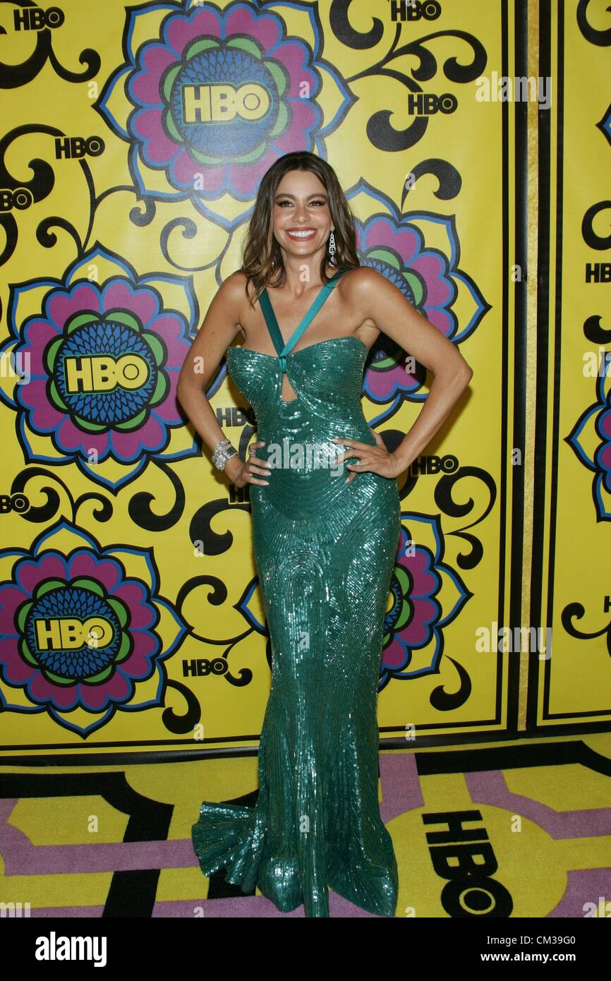 Sofia Vergara arrivals HBO Emmy Awards After PartyPlaza atPacific Design Center Los Angeles CA September 23 2012 Stock Photo
