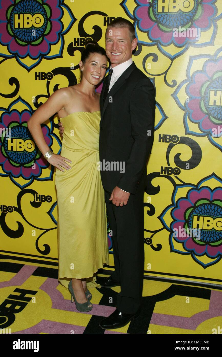 Megan Coughlin Philip Winchester arrivals HBO Emmy Awards After Party - PART 2Plaza atPacific Design Center Los - Stock Image