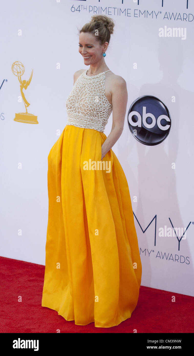 Sept. 23, 2012 - Los Angeles, California, USA - Leslie Mann at the 64th Annual Primetime Emmy Awards held at the - Stock Image