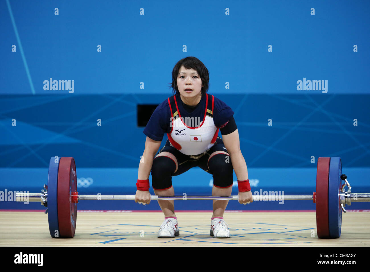 Hiromi Miyaka (JPN),  JULY 28, 2012 - Weightlifting :  Women's 48kg  at ExCeL  during the London 2012 Olympic - Stock Image